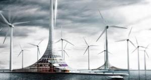 vue sur http://energiesdelamer.blogspot.com/2010/01/turbine-city-la-ville-eolienne-maritime.html